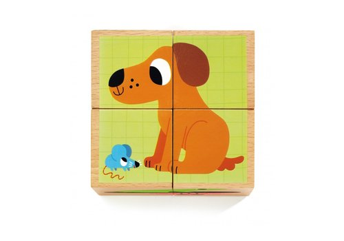 Djeco Djeco Wooden Block Puzzle Wouaf & Co