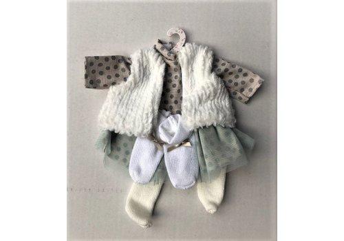 LLorens LLorens Dolls Clothes Dot Dress  35 cm