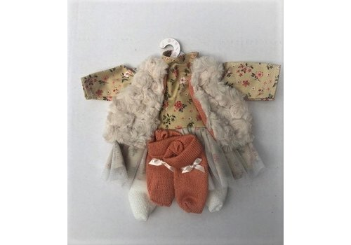 LLorens LLorens Dolls Clothes Beige/ Soft Orange 35 cm