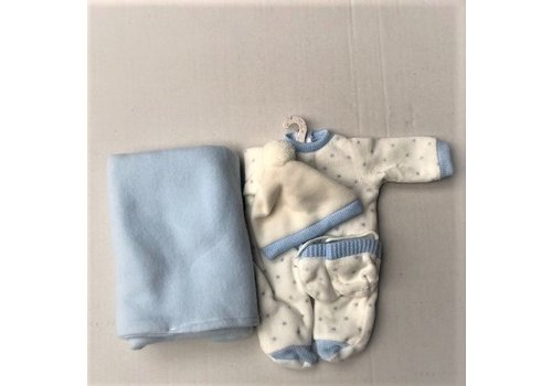 LLorens LLorens Poppen Kleertjes Blauw/Sterretjes 35 cm