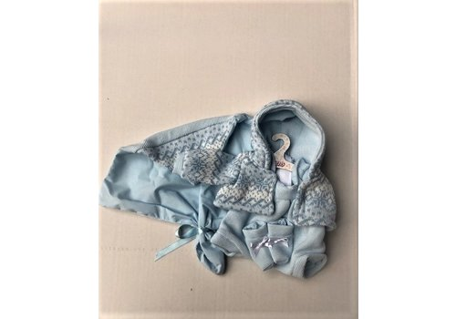 LLorens LLorens Poppen Kleertjes Winter Blauw 35 cm