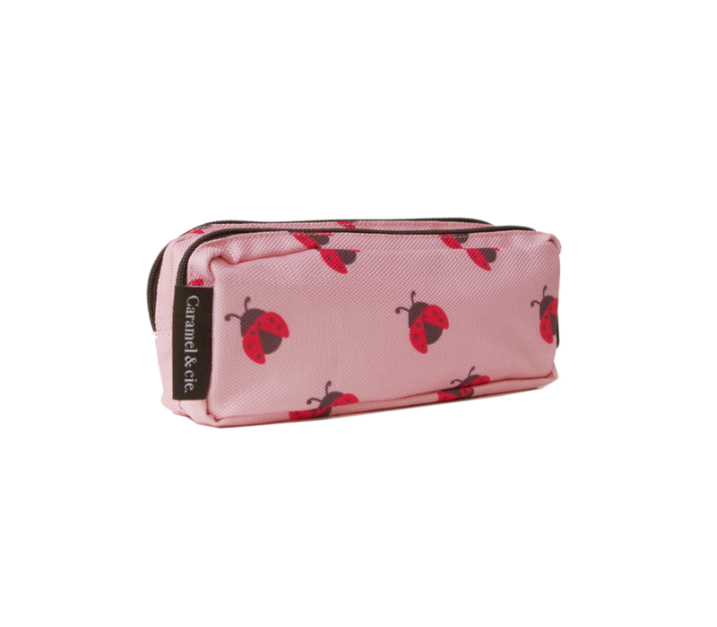Caramel & Cie Pencil Case Pink with Ladybugs