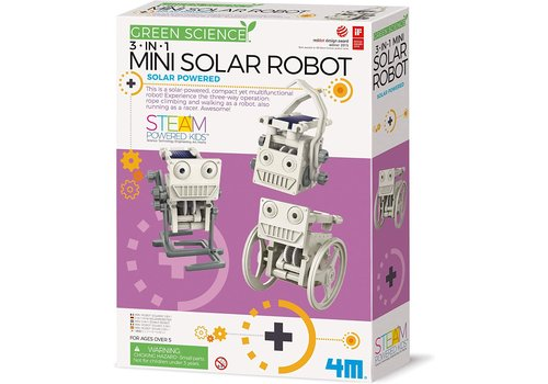 4M 4M Green Science Mini Zonnecel Robot 3 in 1