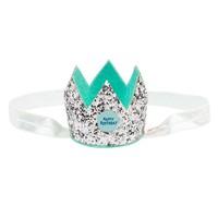 Souza! Birthday Crown on Elastic Hairband