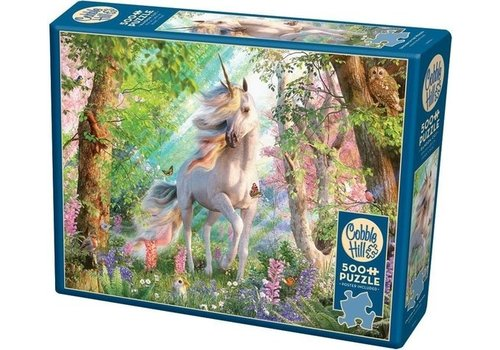 Cobble Hill Cobble Hill Puzzle Unicorn In The Woods 500 pieces