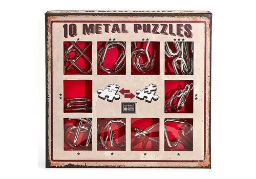 Eureka Eureka! 10 Metal Puzzles Red Edition