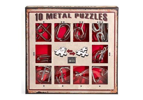 Eureka Eureka! 10 Metalen Puzzels Rode Editie