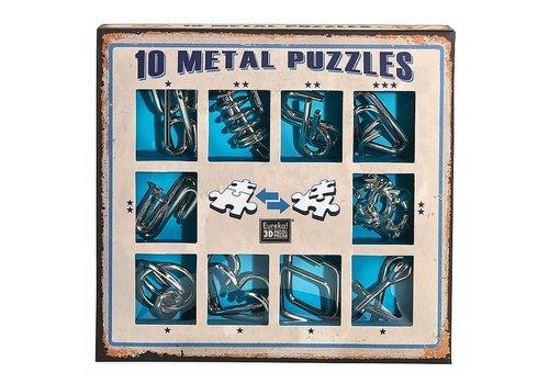 Eureka Eureka! 10 Metal Puzzles Bleu Edition