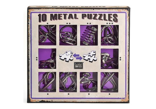 Eureka Eureka! 10 Metalen Puzzels Paarse Editie