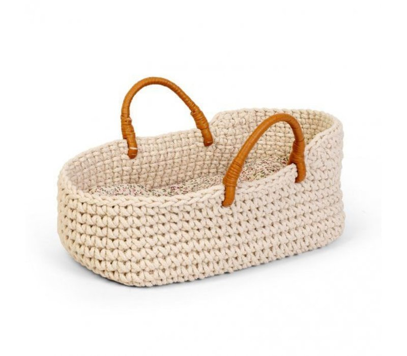 By Astrup Knitted Doll Basket 35 cm