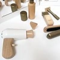 By Astrup Wooden Hairdresser set in Bag 9-piece