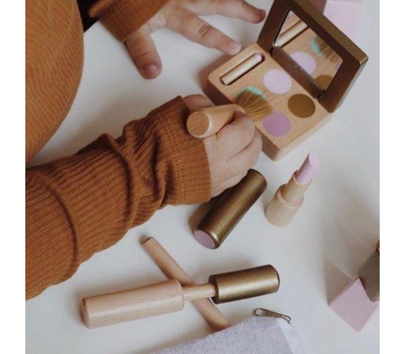 By Astrup Houten Make-up Set in Toilettas 13-delig