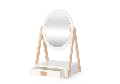 By Astrup By Astrup  Wooden Table Mirror with Drawer