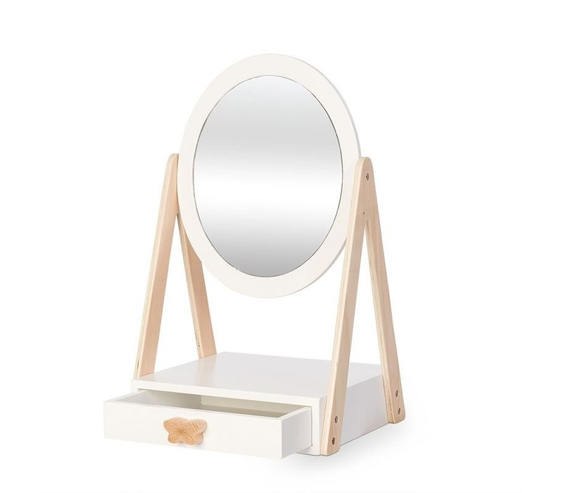 By Astrup Wooden Table Mirror with Drawer