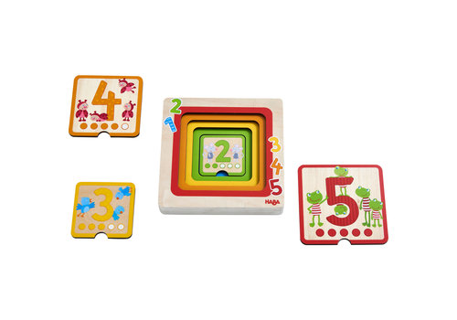 Haba Haba Wooden Puzzle Counting Friends