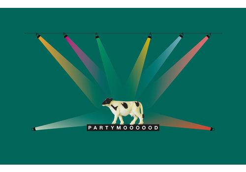 Leuke Kaartjes Leuke Kaartjes Greeting Card Partymoooood With Cow