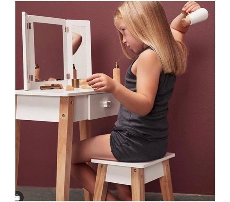 By Astrup Wooden Children's Dressing Table with Stool