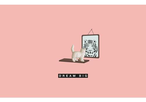 Leuke Kaartjes Leuke Kaartjes Greeting Card Dream Big With Cat