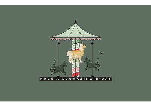 Leuke Kaartjes Leuke Kaartjes Greeting Card Have A llamazing B'Day With Lama