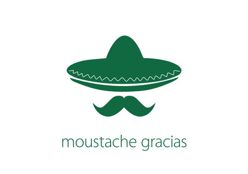 Leuke Kaartjes Leuke Kaartjes Greeting Card Moustache Gracias