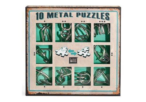 Eureka Eureka! 10 Metal Puzzles Green Edition