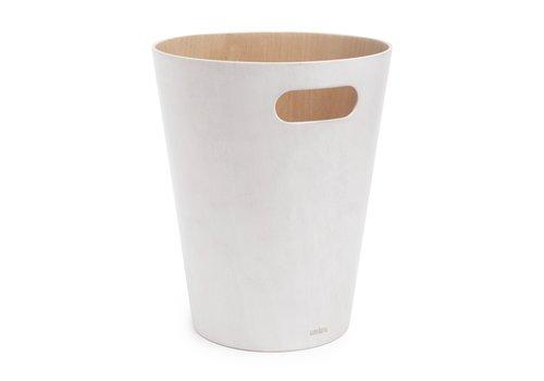 Umbra Umbra Woodrow Waste Can White/Wood