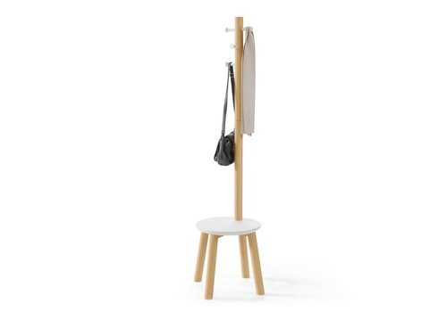 Umbra Umbra Pillar Stool With Built-In Coat Rack