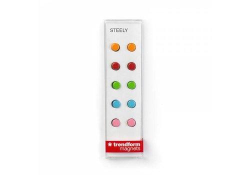 Trendform Trendform Steely Set Van 10  Mini Magneten Multicolor