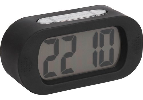 Present Time Present Time Alarm Clock Gummy Black