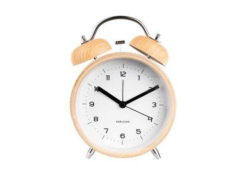 Karlsson Karlsson Alarm Clock Classic Bell Wood/White