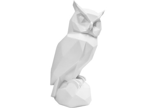 Present Time Present Time Origami Statue Owl White 32,5 cm