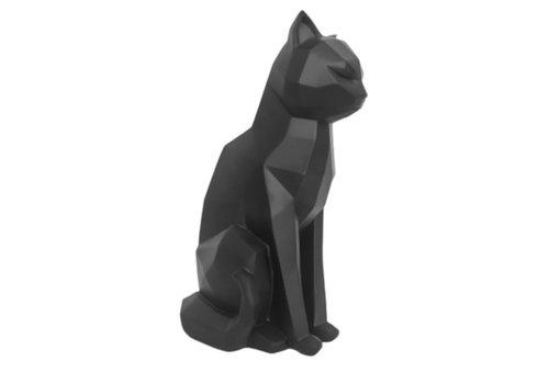 Present Time Present Time Origami Statue Cat Sitting Black 26,5 cm