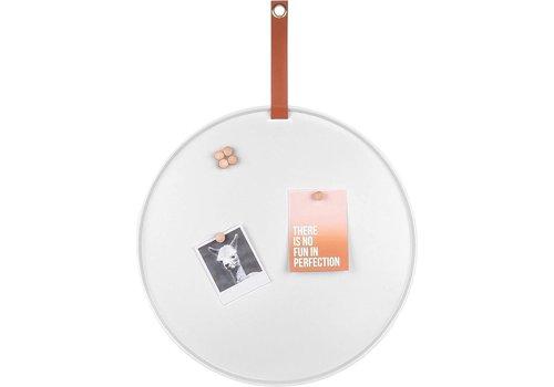 Present Time Present Time Memo Board Perky White