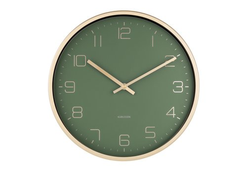 Karlsson Present Time Karlsson Wall Clock Elegance Gold Green