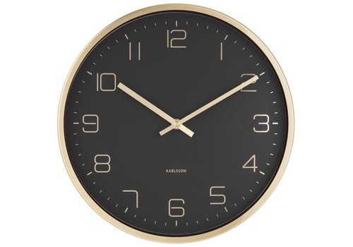 Karlsson Present Time Karlsson Wall Clock Elegance Gold/Black