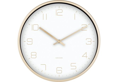 Karlsson Present Time Karlsson Wall Clock Elegance Gold White