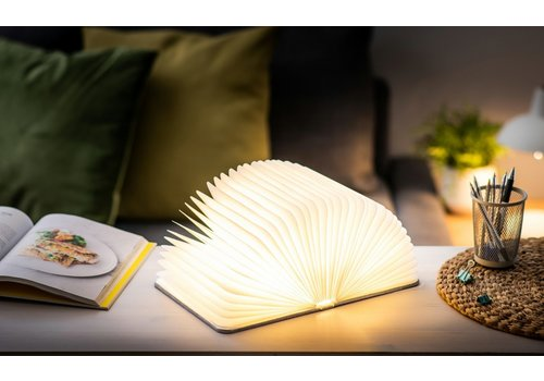 Gingko Gingko Mini Booklight Walnoot Hout