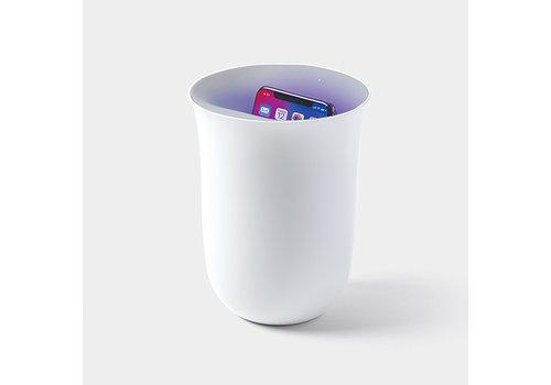 Lexon Lexon Oblio Wireless Charging Station with UV Sanitizer White