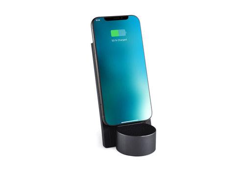 Lexon Lexon City Energy Wireless Charger & Bluetooth® Speaker Gun Metal