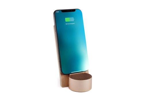Lexon Lexon City Energy Wireless Charger & Bluetooth® Speaker Gold