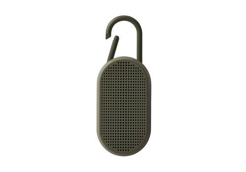 Lexon Lexon Mino T Bluetooth-luidspreker met Geïntegreerde Karabijn Haak Kaki