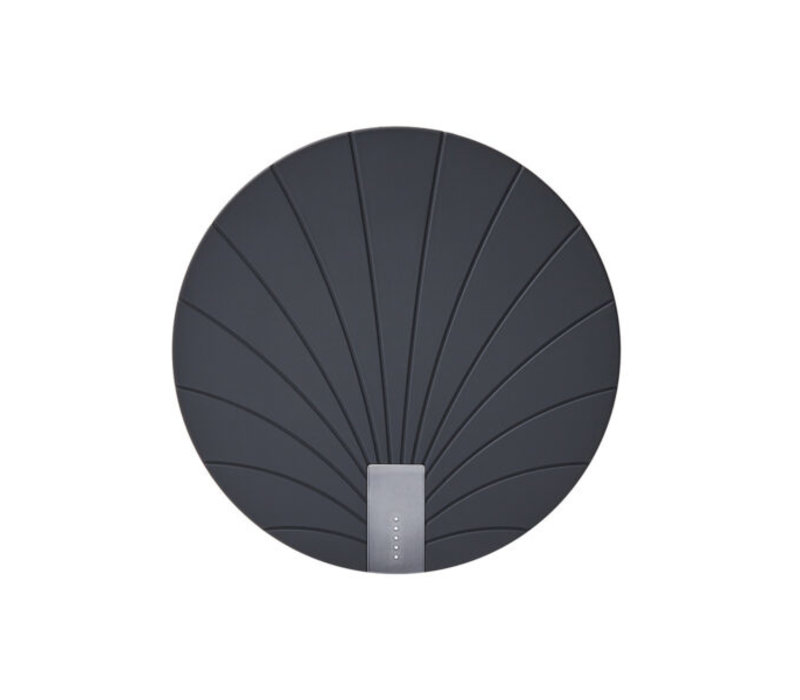 Lexon Bali 2 in 1 Wireless Charger with Built-in Power Bank 5000 mAh Black