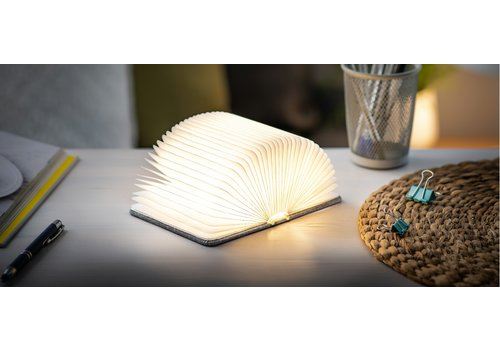 Gingko Gingko Booklight SM Linnen Grijs