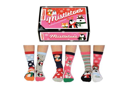 Odd Socks ODD Socks Dames Sokken Mistletoes in Box 3 paar maat 37-42