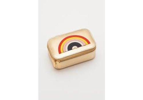 Estella Bartlett Estella Bartlett Mini Jewelry Box Gold with Rainbow