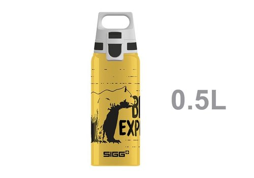 Sigg Sigg Teens Drinking Bottle Brave Bear with ONE cap 0,6l