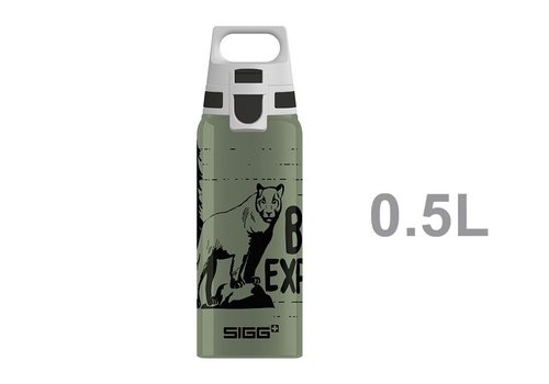 Sigg Sigg Teens Drinking Bottle Brave Mountain Lion with ONE Cap 0,6l