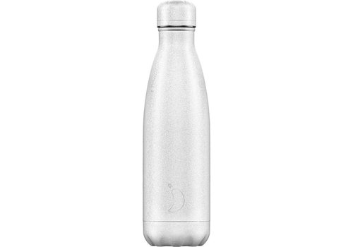 Chilly's Chilly's Double Walled Insulating Bottle White Glitter 500ml