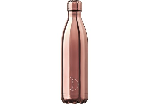 Chilly's Chilly's Double Walled Insulating Bottle  Chrome Rose Gold 500ml