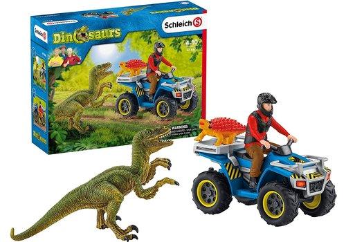 Schleich Schleich Vlucht van Velociraptor op Quad